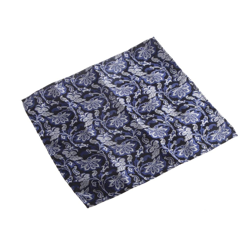 1 Set Novel Style Male Peiris Pattern Square Hankie Hanky Poam Handkerchief