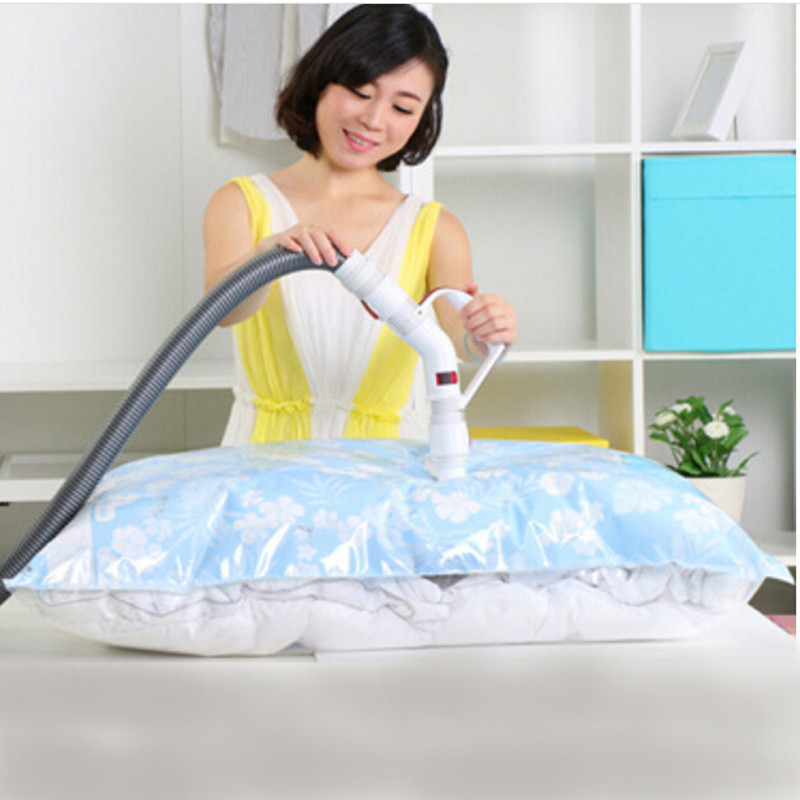 Home Organizer  Vacuum Cleaner Clothes Storage Bag Quilt Vacuum Compressed  Bag For Clothes Storage Bags