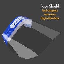 Máscara antigotitas antisalpicaduras protección facial completa máscara transparente antiderrames de aceite máscaras a prueba de lluvia a prueba de viento a prueba de polvo