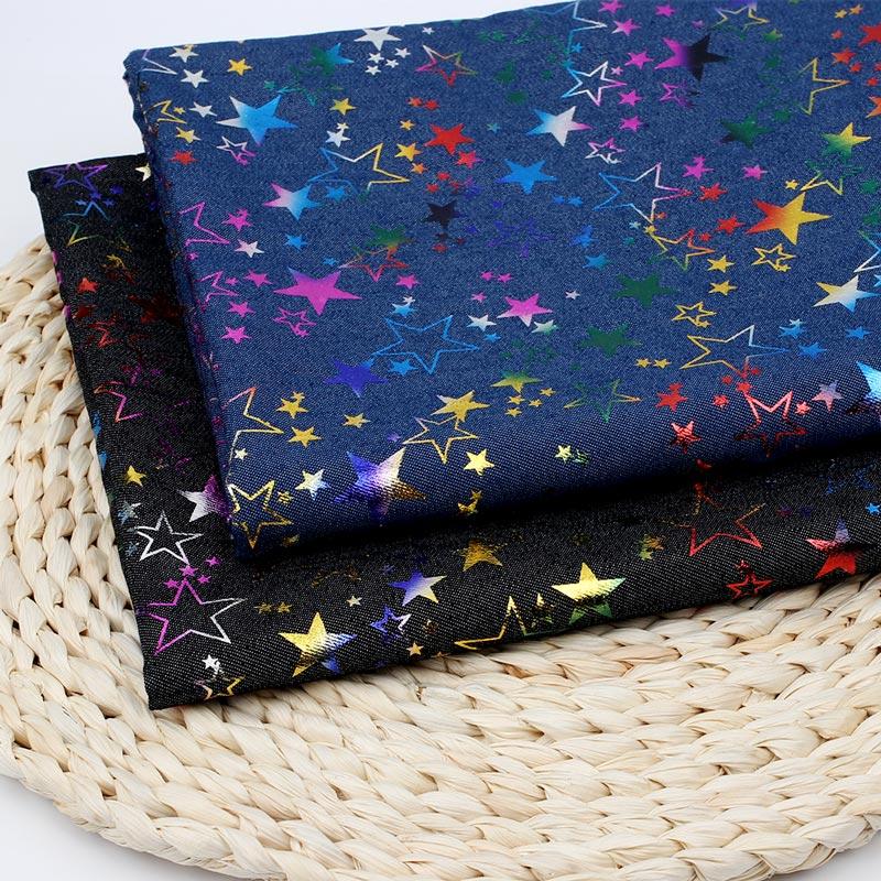 45*150 см джинсовая ткань цветная пентаграмма напечатанный лист одежда швейный материал домашний текстиль DIY ручной работы ремесло поставки
