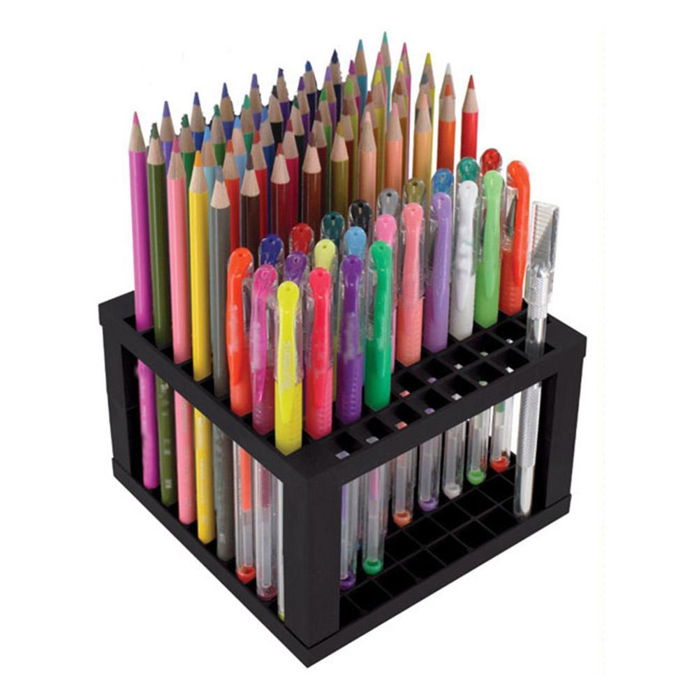 96-slot Painting Brush Pen Storage Holder Stand Organizer Rack Drawing Supplies Made Of Premium Material, Durable DIY Assemble