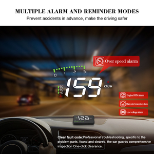 Image 5 - OBDHUD A300 OBDII Head Up Display 9V 16V MPH KM/H Fuel Speed Warning System Windshield Projector Car Accesorie Free Shipping