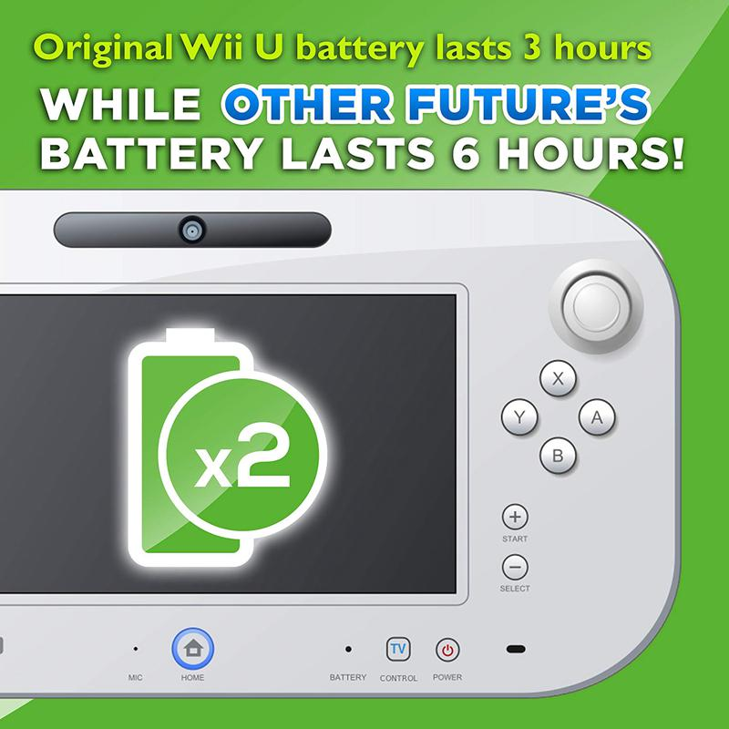 For Wii U GamePad 3600 mAh Replacement Rechargeable Battery Pack