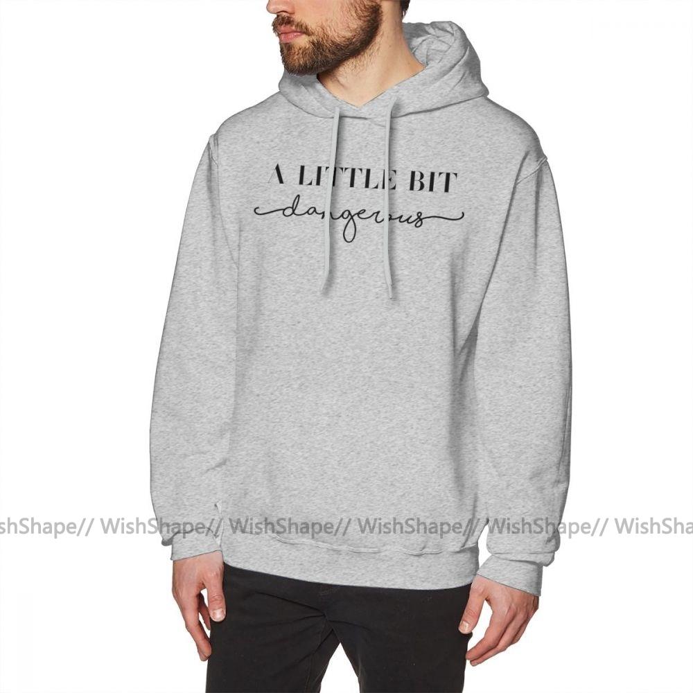 Ariana Grande Hoodie A Little Bit Dangerous Sweatshirt Hoodies Autumn Cool Pullover Hoodie Grey Cotton Male Long Length Hoodies