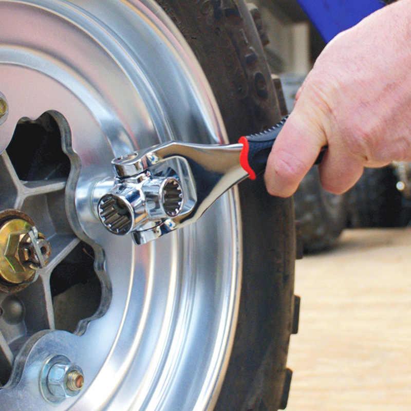 48-в-1 Тигр ручные инструменты гнездо работает с сплайн болты Torx 360 градусов 6-точечный универсальный мебель Авто гаечный ключ