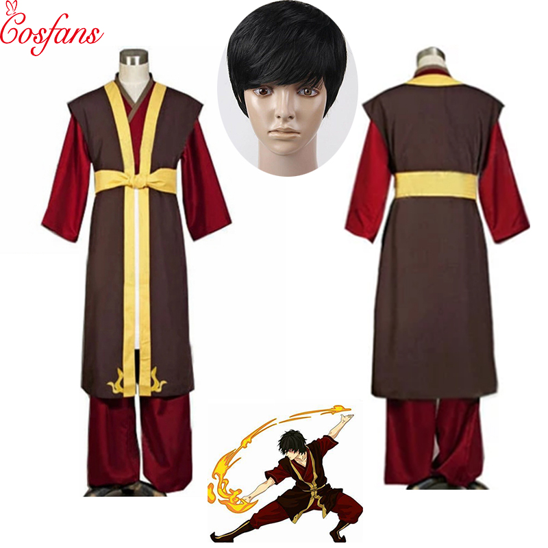 Custom-made Avatar The Last Airbender Zuko Cosplay Costume Halloween Clothes