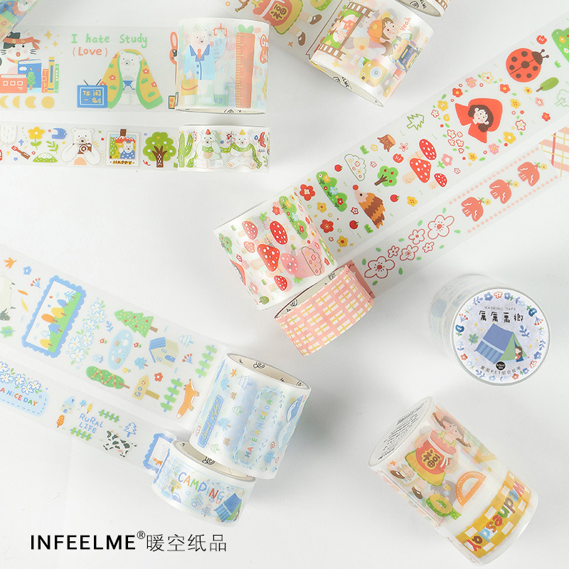 1set/1lot Washi Masking Tapes Day Trip Decorative Adhesive Scrapbooking DIY Paper Japanese Stickers 3M