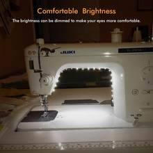 Adjustable brightness Sewing Machine LED Lights Multifunctional Flexible Work Lamp Magnetic Sewing light for Drill Press Lathe(China)