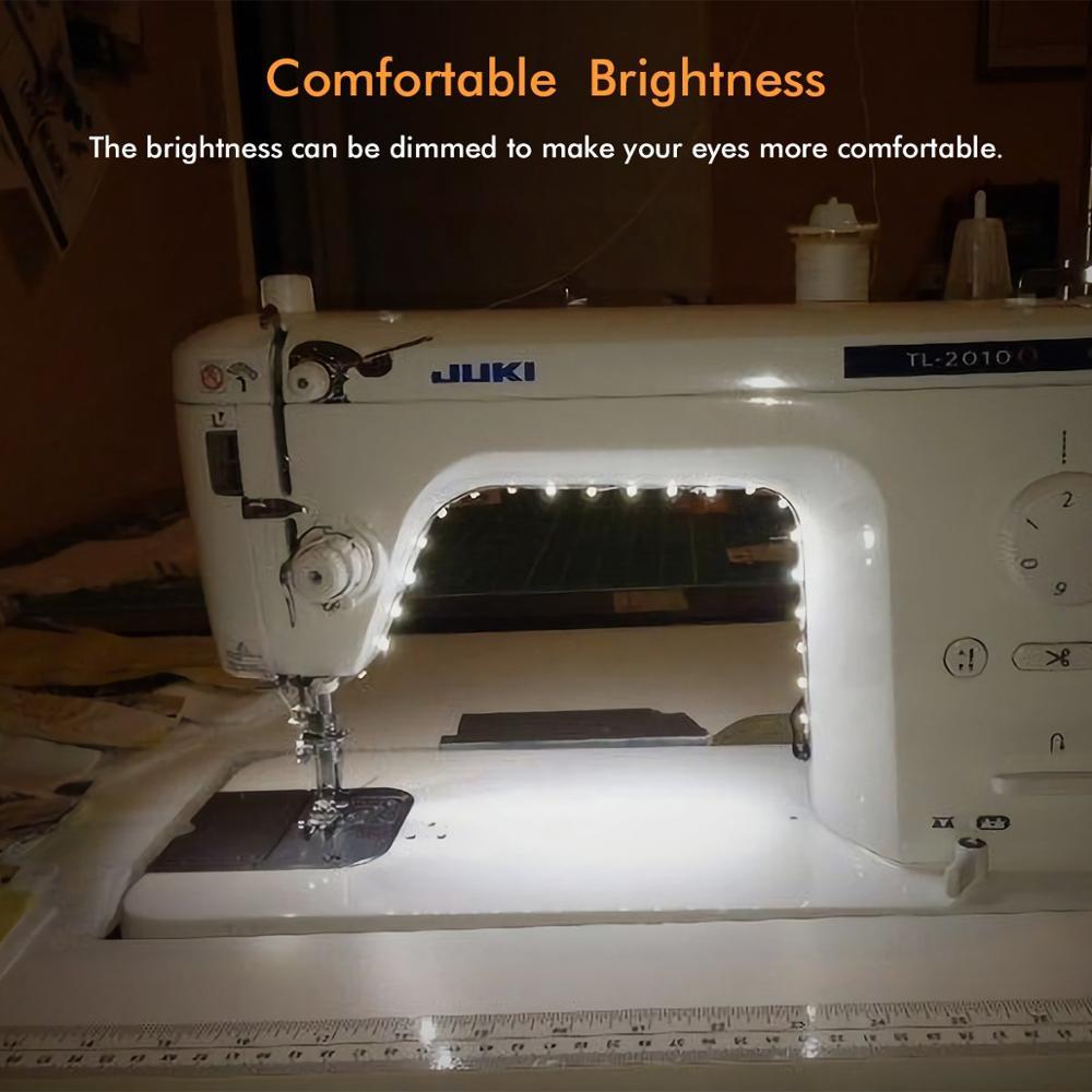 Máquina de costura de brilho ajustável luzes led multifuncional lâmpada de trabalho flexível luz de costura magnética para furadeira torno
