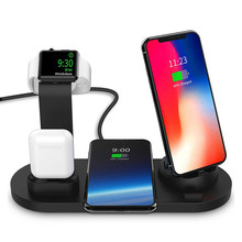 3 in 1 Charging Dock Holder Dock Wireless Charger Stand Station Mounts Base For Apple Watch iPhone X XS XR MAX 7 8 Plus Airpods 3 in 1 magnetic phone charger for iphone x s max xr 8 7 wireless charger for apple watch 2 3 4 airpods charging dock station