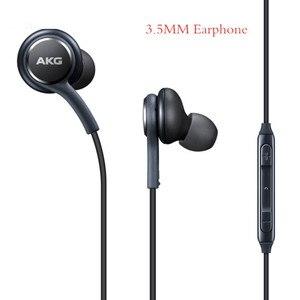 Оригинальное для Samsung 3,5 мм проводные наушники IG955 In-ear наушники с микрофоном и регулятором громкости гарнитуры для AKG Galaxy S8 S7 S6