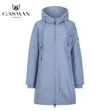 GASMAN Fashion brand blue warm autumn women's jacket Long hooded jacket for women coat solid cotton Female windproof down parka