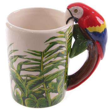 3D kreatywny papuga kubki do kawy ceramiczny kubek podróżny Drinkware dzięcioł żaba ptak ręcznie malowane zwierzę kubki i kubki New Hot tanie i dobre opinie QUHE CN (pochodzenie) Porcelany cartoon Bez elementów Uchwyt CE UE Lfgb Mugs Parrot mugs Ekologiczne Na stanie Animal 9*12CM