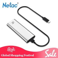 Netac SSD USB 3,1 Z тонкий 128GB внешний твердотельный накопитель type-C портативный HDD для настольного ноутбука