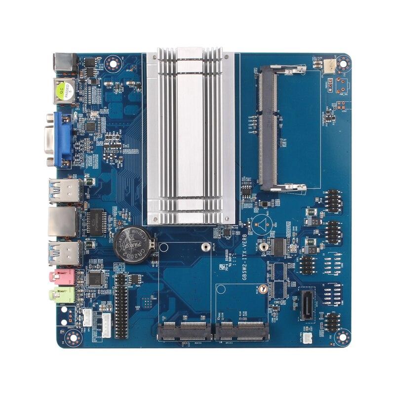 5411.05руб. 33% СКИДКА|Intel Celeron N3150 Mini ITX Встроенная Материнская плата DDR3L mSATA SATA HDMI VGA 6 * USB Mini PCI E WiFi BT Gigabit LAN MIC SPK 12V 5A|Материнские платы| |  - AliExpress