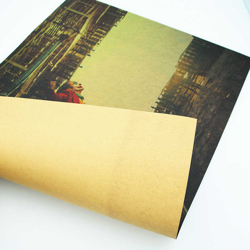 DLKKLB חדש סרט פוסטר ג 'וקר קראפט נייר באטמן של האויב בציר סגנון DC קיר מדבקת 51x36cm בית שינה דקורטיבי ציור