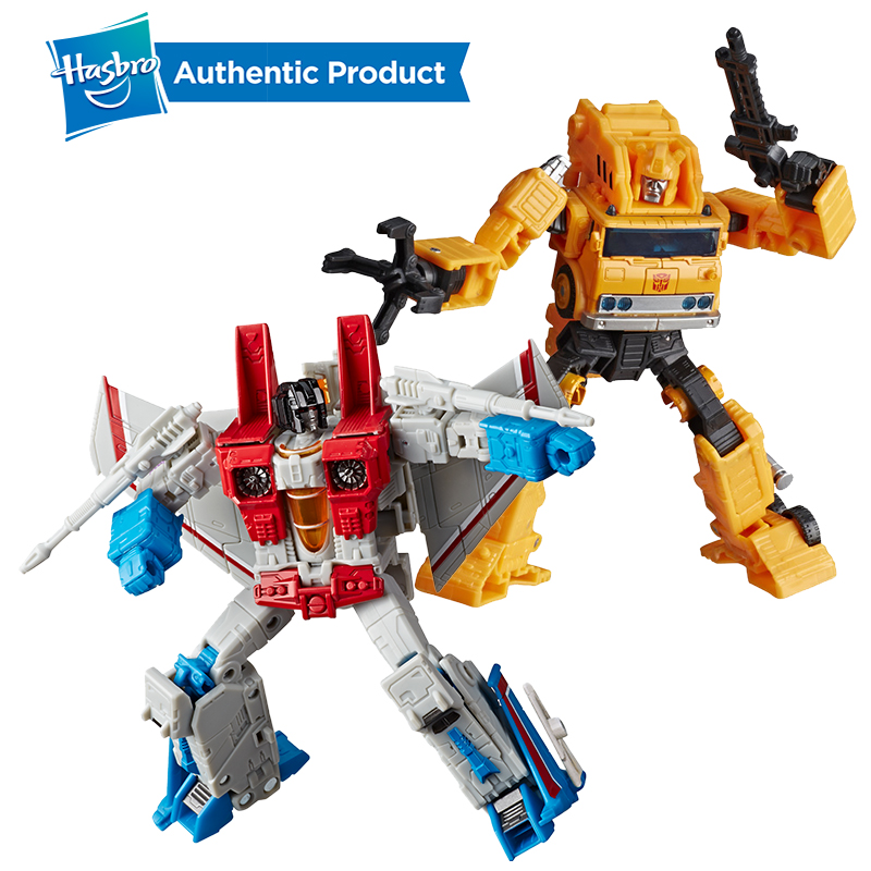 Hasbro Transformers Toys Generations War For Cybertron Earthrise Voyager WFC-E10 Autobot Grapple WFC-E9 Starscream Action Figure