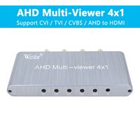 AHD 4×1 Multi-viewer Adapter Switcher Splitter 4 AHD in 1 HDMI out Support 1080P@60Hz for Vehicle Monitoring