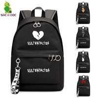 XXXTentacion Bookbag College School Bags sac a dos Mochila Laptop Mochilas Mochila de Viagem Bolsa de Ombro para a Menina Adolescente