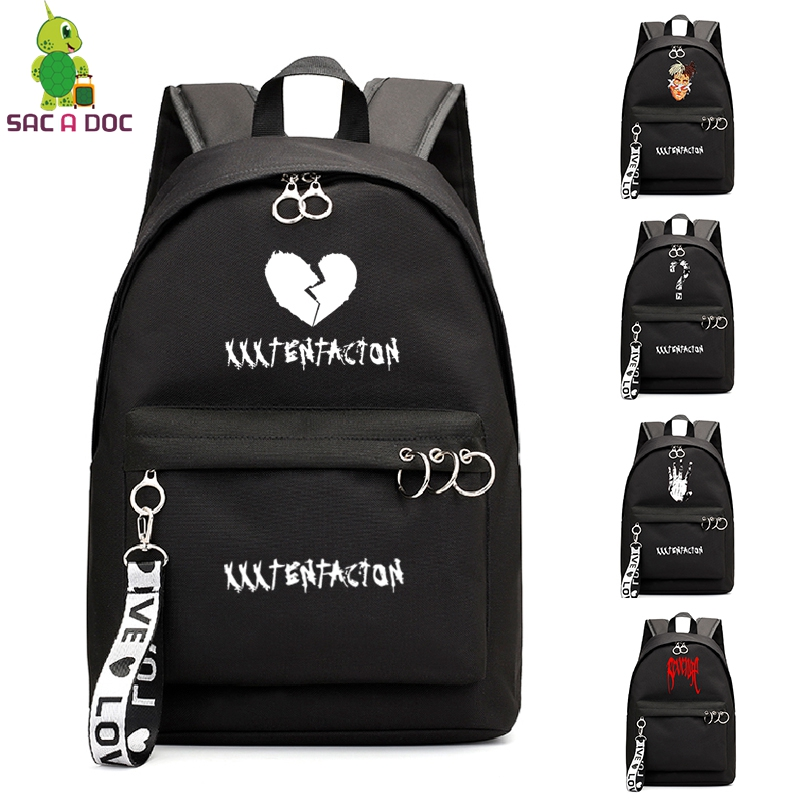XXXTentacion Bookbag College School Bags sac a dos Backpack Laptop Backpacking Backpacks Travel Shoulder Bag for Girl Teenager image