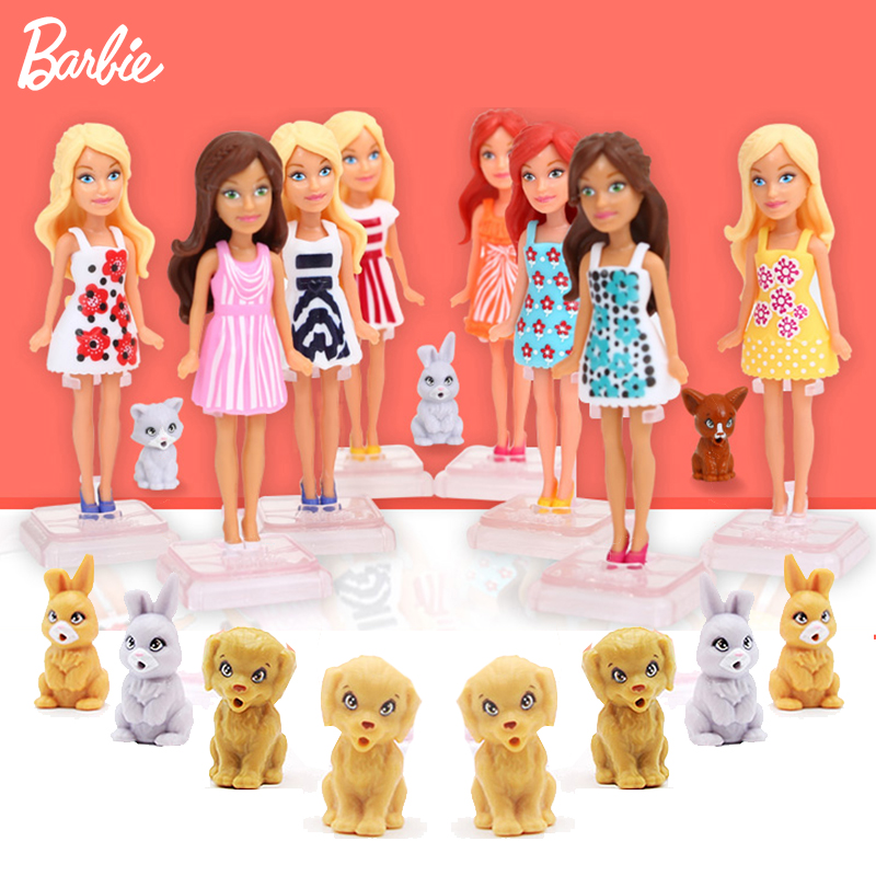 10cm Mini Baby Born Doll  Makeup Barbie Toys With Clothes Accessories Dolls For Girls  Toys For Children Brinquedos Furniture