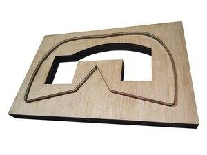 Image 3 - Molde de máscara de couro artesanal, molde de proteção antispray para faça você mesmo, ferramenta de corte