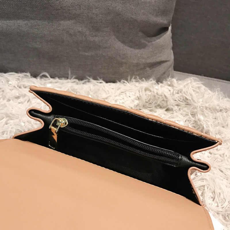 Женская квадратная сумка YL, Модная европейская сумка высокого качества из искусственной кожи, женская дизайнерская сумка с цепочкой и замком, сумки-мессенджеры на плечо