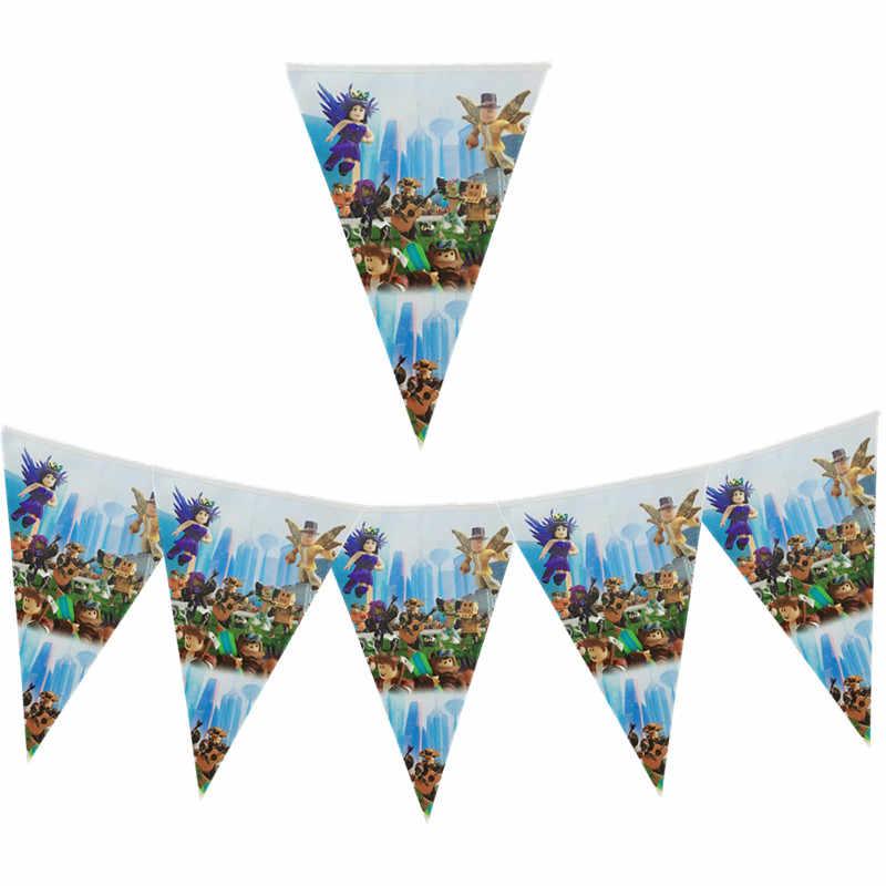 108*180Cm Roblo Game Hen Plastic Tafelkleden Roblo Wegwerp Tafel Cover Baby Shower Gelukkig Birthday Party Decoraties