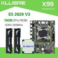Kllisre X99 D4 motherboard set mit Xeon E5 2620 V3 LGA2011 3 CPU 2 stücke X 8GB = 16GB 2400MHz DDR4 speicher-in Motherboards aus Computer und Büro bei
