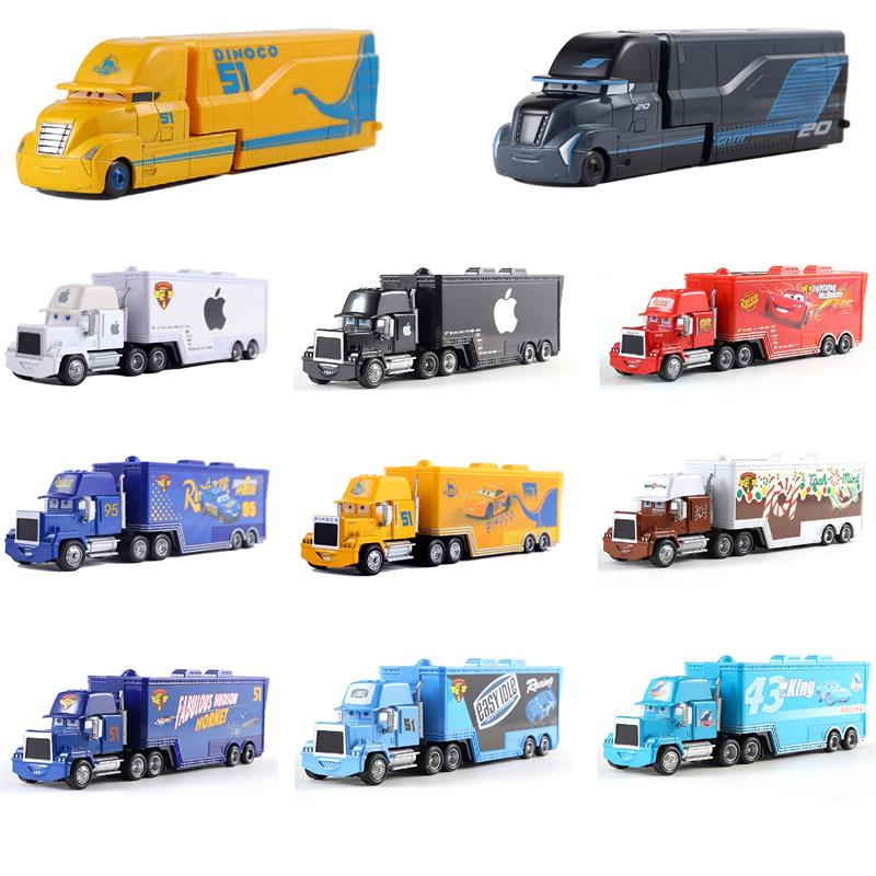 Disney pixar racing 2 3 brinquedo relâmpago mcqueen jackson tempestade mike tio caminhão 155 liga modelo carro boutique crianças natal