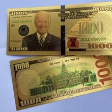 Совершенно новая мельга из черной золотой фольги с изображением американских президентских выборов, 1000 долларов США, памятные банкноты, Де...