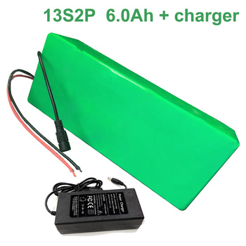 48V 6Ah 13S2P 18650 Li-ion Battery Pack E-Bike Ebike electric bicycle Accept customization With charger