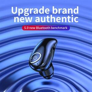 Image 3 - V21 무선 블루투스 5.0 단일 미니 헤드셋 이어폰 스포츠 스테레오 이어폰 핸즈프리 블루투스 무선 이어 버드