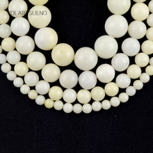 Natural Lvory White Jades Stone Round Loose Beads For Jewelry Making 4-12mm Spacer Beads Fit Diy Bracelets Necklace 15'' Stone цена