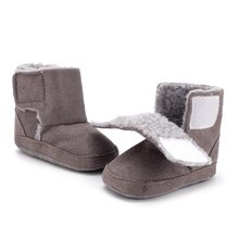Winter Warm Baby Boots Toddler Shoes Girl Boy Snow Booties Antiskid Plush Soft Flat Infant Shoes 0-18M(China)