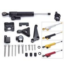for KAWASAKI Z250 Z300 Motorcycle Aluminium Steering Stabilizer Damper Mounting Bracket Kit for KAWASAKI Z250 Z300 2015-2016 цена