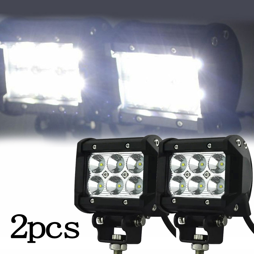2Pcs 18W Adjustable Spot Boat LED Marine Spreader Light LED Deck/Mast White 6000K Shockproof Car Accessories