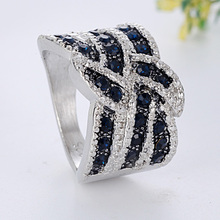 Classic Men Crystal Ring Trend Women Engagement Ring Wedding Bands Fashion Jewelry for Female Wedding Anniversary Gift cheap ZHIXUN Zinc Alloy Unisex Metal geometric Other All Compatible Fitness Tracker Mood Tracker K784 Prong Setting Young And Maturity Women
