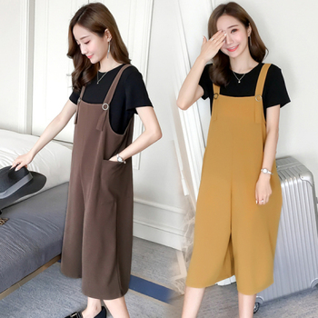 Wide Leg Loose Maternity Short Overalls Summer Fashion Jumpsuits Clothes for Pregnant Women Pregnancy Rompers Bib Pants 2018 summer ripped hole pockets maternity overalls loose adjustable bib pants clothes for pregnant women pregnancy jeans jumpsui