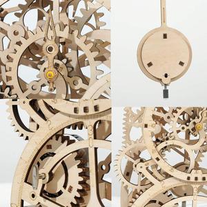 Image 5 - Robotime 4 Kinds DIY Laser Cutting 3D Mechanical Model Wooden Model Building Block Kits Assembly Toy Gift for Children Adult