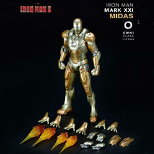 Collectible In Stock Comicave 1/12 Iron Man 3  Alloy Diecast  MARK XXI MK21  Action Figure Model for Fans Gifts 1 9 diecast figure series dfs023 iron man mark1 collectible dolls figures collections