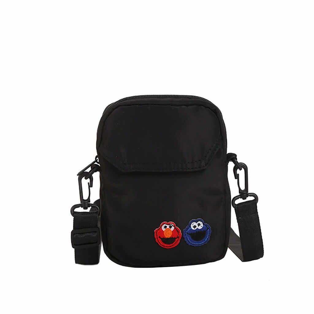 ナイロン無地女性バッグ携帯ポーチメッセンジャーバッグ学生クロスボディ女性スモールハンドバッグレ嚢 des ファム