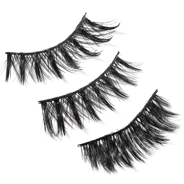 2020 New 15-25mm 3D Faux Mink Hair Cross False Eyelashes 5 Pairs Long Eye Lashes Handmade Thick Makeup Beauty Extension Tools 2