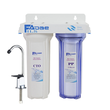 Two Stage Household Water Filtration S25ystem include filters - PP Sedimment and CTO Carbon Block Filter direct selling promotion terminal purification clear ce water filters one stage pre filter transparent desktop carbon filter
