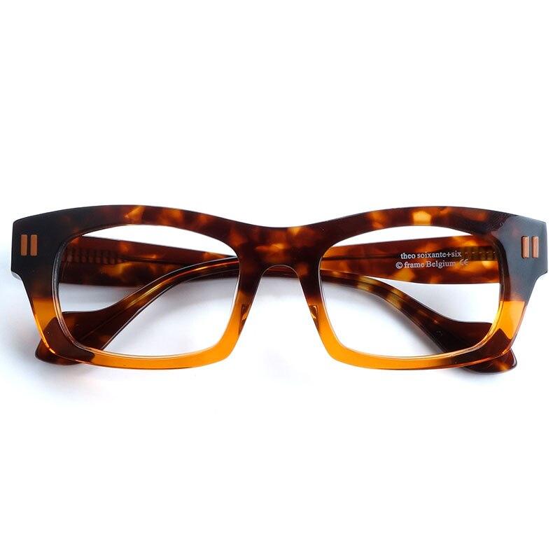 Men bold vintage rectangle oversized acetate eyeglasses frames Belgium design Men