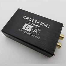 מיני HIFI USB חיצוני כרטיס קול ES9018K2M DAC מפענח NE5532 TL072 מגבר שרת 24bit 96kHz