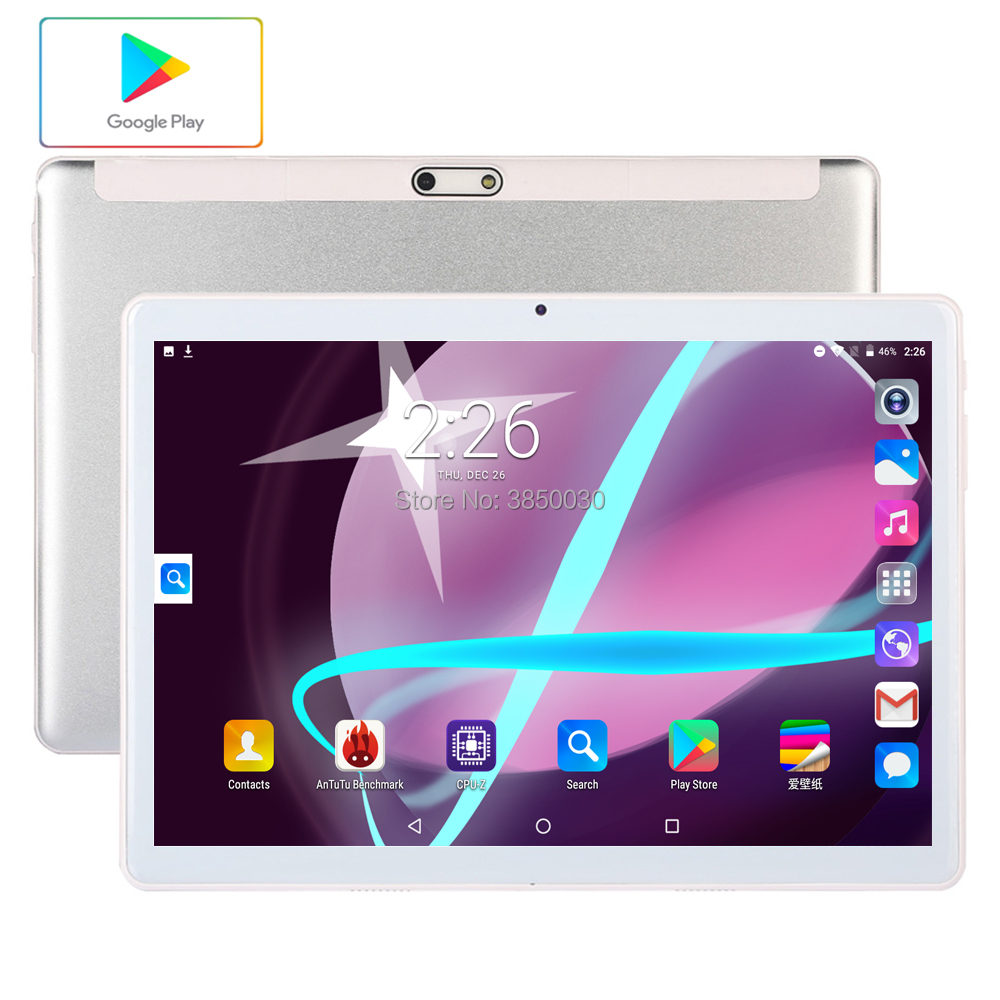 2020 Android 9.0 10 Inch Quad Core Tablet 3G 4G LTE Phone Call Tablet 96GB Dual SIM 5.0MP Bluetooth Wifi GPS Tablets 10