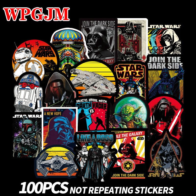 100 Pcs New Super Cool Star Wars Stickers For Luggage Laptop Decal Skateboard Stickers Moto Bicycle Car Guitar Fridge Sticker