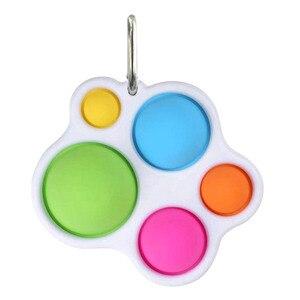 Простой улыбающегося Непоседа сенсорные набор игрушек, игрушка для снятия стресса, игрушка для аутистов беспокойство снятия стресса поп-пу...