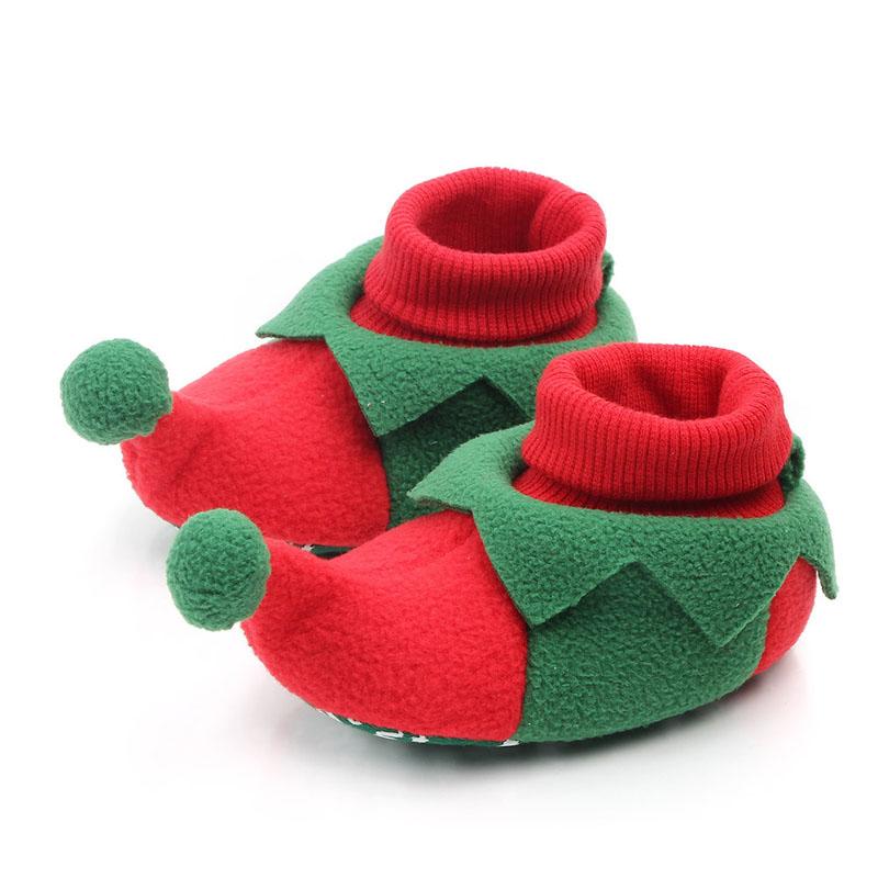 2019 Christmas Toddler Newborn Baby Crawling Shoes Boy Girl Lamb Slippers Prewalker Trainers Fur Winter First Walker